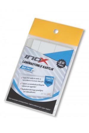 İnox Laminasyonlu Kartlık Yatay 104X74 Mm 5 Li Paket