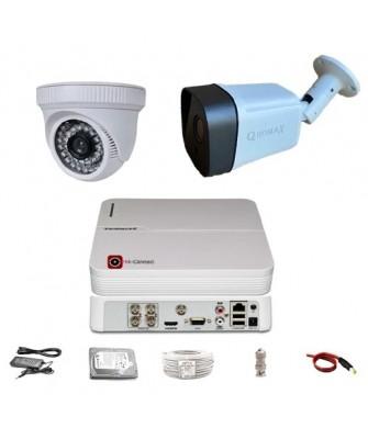 Güvenlik Kamerası Sistem 2' li 1 Dış + 1 İç 5 MP Sony Lens 1080P