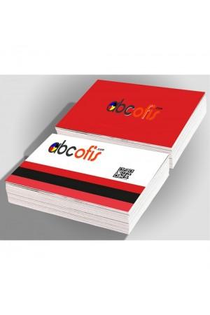 1000 Adet Kartvizit 350 gr. Kuşe Çift Yön Renkli Mat Selefonlu